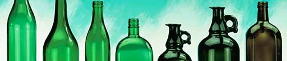 Grün- und Braunglasflaschen von Lipfert Glas